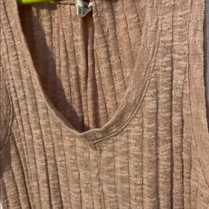 Pink wide rib knit with tie front Maurices tank